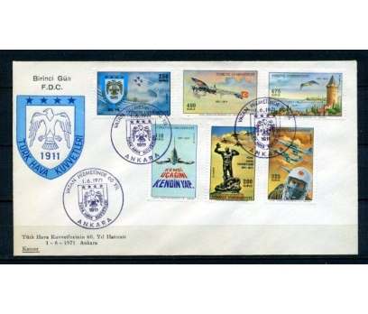 CUMH.FDC 1971 SÜREKLİ UÇAK SERİSİ KAMER (280215)