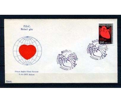 CUMH.FDC 1972 DÜNYA SAĞLIK G.KAMER SÜPER (150315)