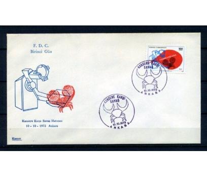 CUMH.FDC 1972 KANSERE KARŞI S. KAMER SÜPER(150315)