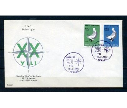 CUMH.FDC 1972 NATO'DA 20.YIL KAMER SÜPER (150315)
