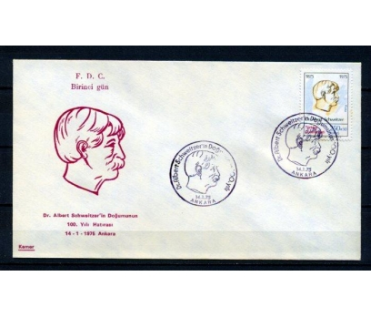 CUMH.FDC 1975 A.SCHWEİTZER KAMER SÜPER(160315)