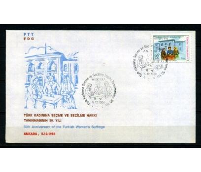 CUMH.FDC 1984 TÜRK KAD.SEÇME HAKKI SÜPER (280215)
