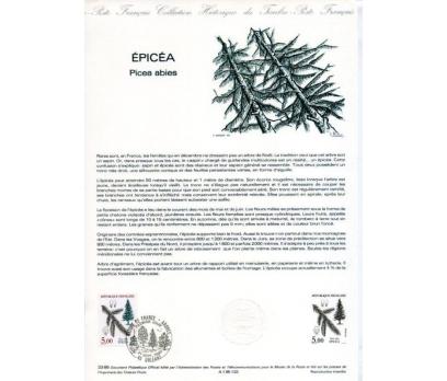 FRANSA 1985 HATIRA FÖYÜ  AĞAÇLAR-4 SÜPER(120315)