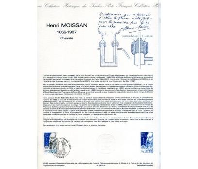 FRANSA 1986 HATIRA FÖYÜ HENRI MOISSAN (120315)