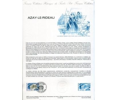 FRANSA 1987 HATIRA FÖY AZAY LE RIDEAU (140315)