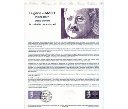 FRANSA 1987 HATIRA FÖY E.JAMOT SÜPER (130315)