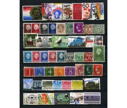 HOLLANDA  DAMGALI 50 ÇEŞİT PUL SÜPER (020315)