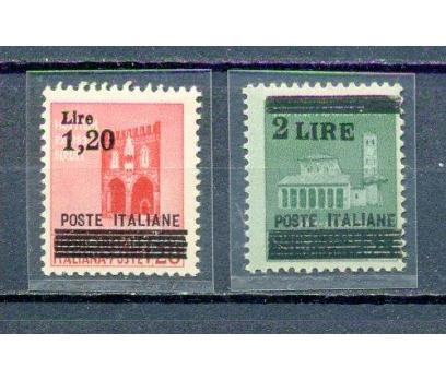 İTALYA ** 1942 KLASİK SÜRŞARJLI 2 VALÖR (260315)