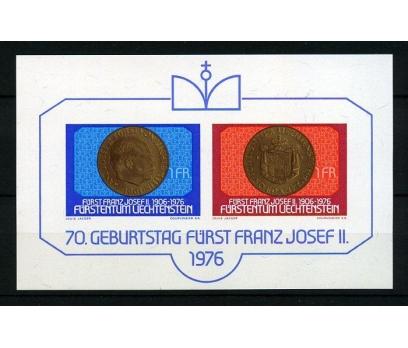 LİECHTENSTEİN ** 1976 F.JOZEF 70 Y. BLOK (210315)