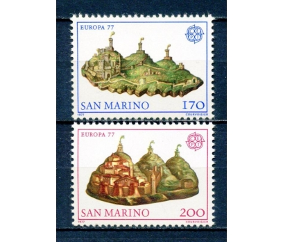 SAN MARİNO ** 1977 EUROPA CEPT TAM SERİ (250315)