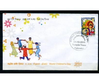 SRİ LANKA FDC 2011 DÜNYA ÇOCUK YILI SÜPER (070315)