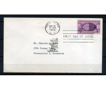 ABD 1958 FDC ATLANTİC KABLO 100.YIL SÜPER (090415)