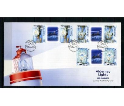 ALDERNEY 2002 DENİZ FENERLERİ FDC SÜPER (260415)
