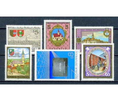 AVUSTURYA ** 1988  6 TAM SERİ SÜPER (310315)
