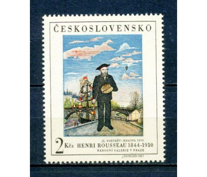 ÇEKOSLOVAKYA ** 1967  TABLO & H.ROUSSEAU (310315)