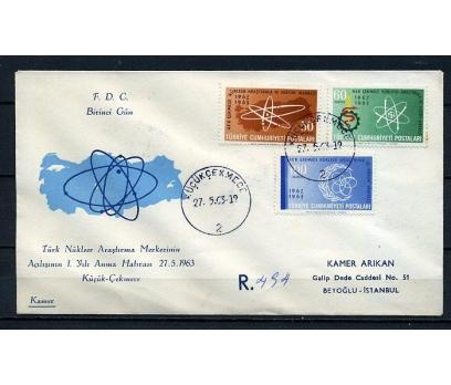 CUMH.FDC 1963 NÜKLEER ARAŞTIRMA KAMER (230415)