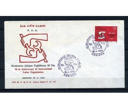 CUMH.FDC 1969 ILO 50.YILI SÜPER (230415)