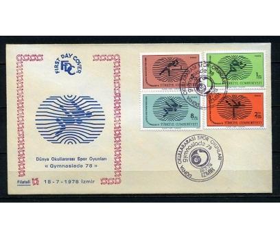 CUMH.FDC 1978 GYMNASİADE 78 FİLATELİ (230415)