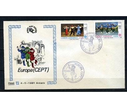CUMH.FDC 1981 EUROPA CEPT FİLATELİ (230415)