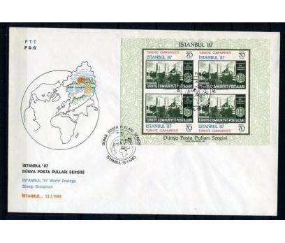 CUMH.FDC 1985 İSTANBUL 87 DÜNYA S. SÜPER (230415)
