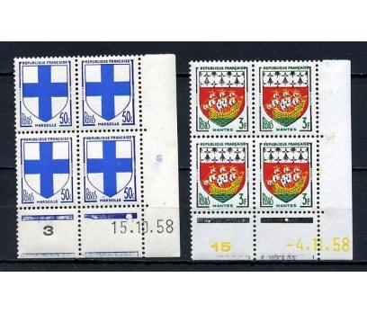 FRANSA ** 1958 ARMALAR 2 VALÖR DBL (050415)