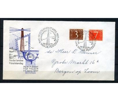 HOLLANDA 1957 DENİZ FENERLERİ T.ÖZEL DAMGA(260415)