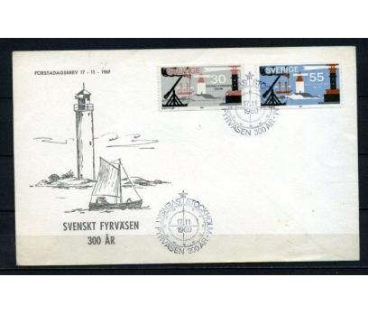 İSVEÇ 1969 DENİZ FENERLERİ FDC SÜPER (260415)