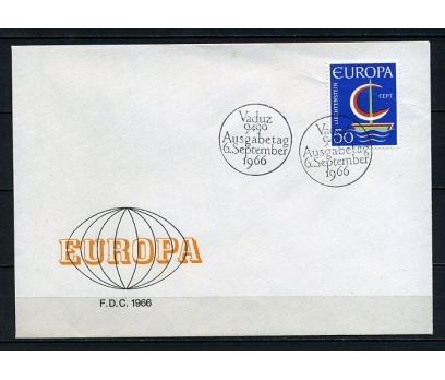 LİECHTENSTEİN 1966 EUROPA CEPT FDC SÜPER (240415)