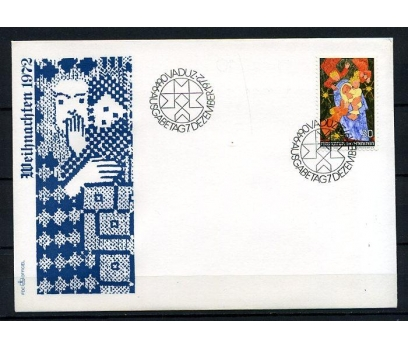 LİECHTENSTEİN 1972 CHRISTMAS FDC SÜPER (240415)