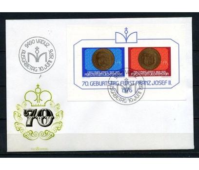 LİECHTENSTEİN 1976 II.JOSEF 70.YAŞ BL FDC (250415)