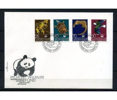 LİECHTENSTEİN 1976 WWF HAYVANLAR FDC SÜPER(250415)