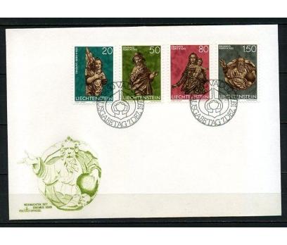 LİECHTENSTEİN 1977 CHRISTMAS FDC SÜPER (250415)