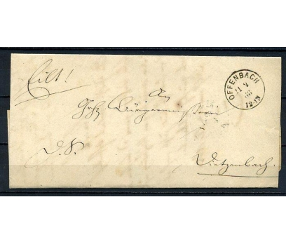 REİCH 1868 KLASİK POSTADAN G.BAĞDADİ ZARF (080415)