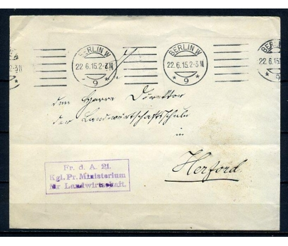 REİCH 1915 KLASİK POSTADAN G.ZARF (080415)