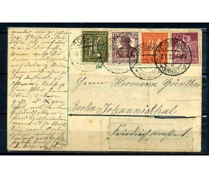 REİCH  1922 POSTADAN GEÇMİŞ ANTİYE (070415)