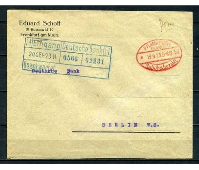 REİCH 1923 FRANKFURT GEMİ DAMGALI P.G.Z.(090415)