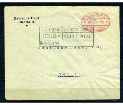 REİCH 1923 MANNHEIM GEMİ DAMGALI P.G.Z. (090415)