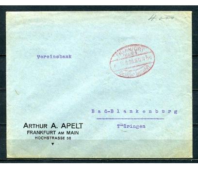 REİCH 1926 FRANKFURT GEMİ DAMGALI P.G.Z.(090415)