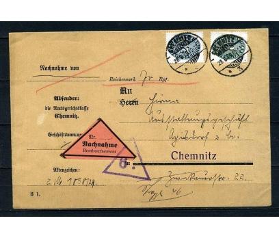 REİCH 1929 RESMİ  PULLARLA P.G. ZARF (090415)