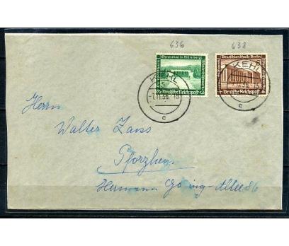 REİCH  1936 İKİ PULLA POSTADAN G. KART (080415)