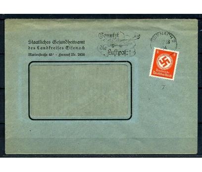 REİCH 1938 GAMALI HAÇ TEK PULLA POST. G.Z.(080415)