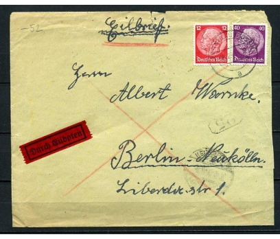 REİCH 1941 KLASİK İKİ PULLA POSTADAN G.Z.(080415)