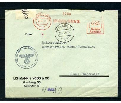 REİCH 1941 SANSÜRLÜ VE OTOMAT PULLA P.G.Z.(080415)