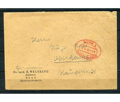 REİCH 1946 BONN 1 GEMİ DAMGALI P.G.Z. (090415)