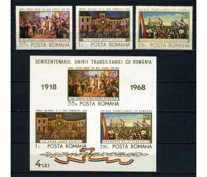 ROMANYA ** 1968  TABLOLAR TAM SERİ + BLOK (010415)