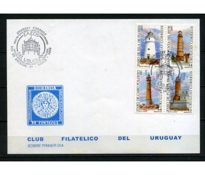 URUGUAY 2000 DENİZ FENERLERİ FDC SÜPER (260415)