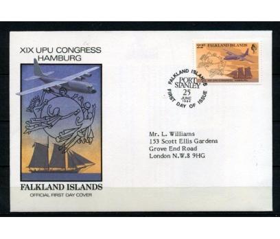 FALKLAND AD. FDC 1984 UÇAK  SÜPER (070515)