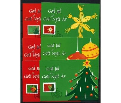 İSVEÇ 2001 CHRISTMAS TAM SERİ 6 KARTMAX (040515)