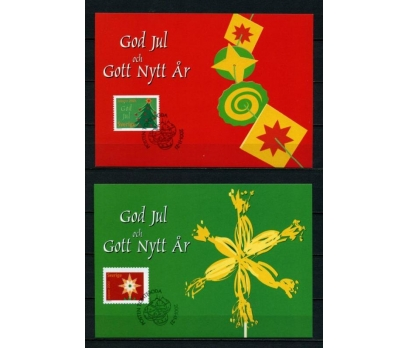 İSVEÇ 2001 CHRISTMAS TAM SERİ 6 KARTMAX (040515) 2