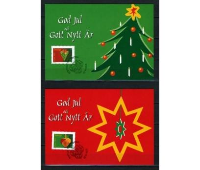İSVEÇ 2001 CHRISTMAS TAM SERİ 6 KARTMAX (040515) 4